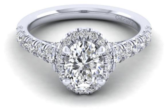 Gabriel Oval Halo Diamond