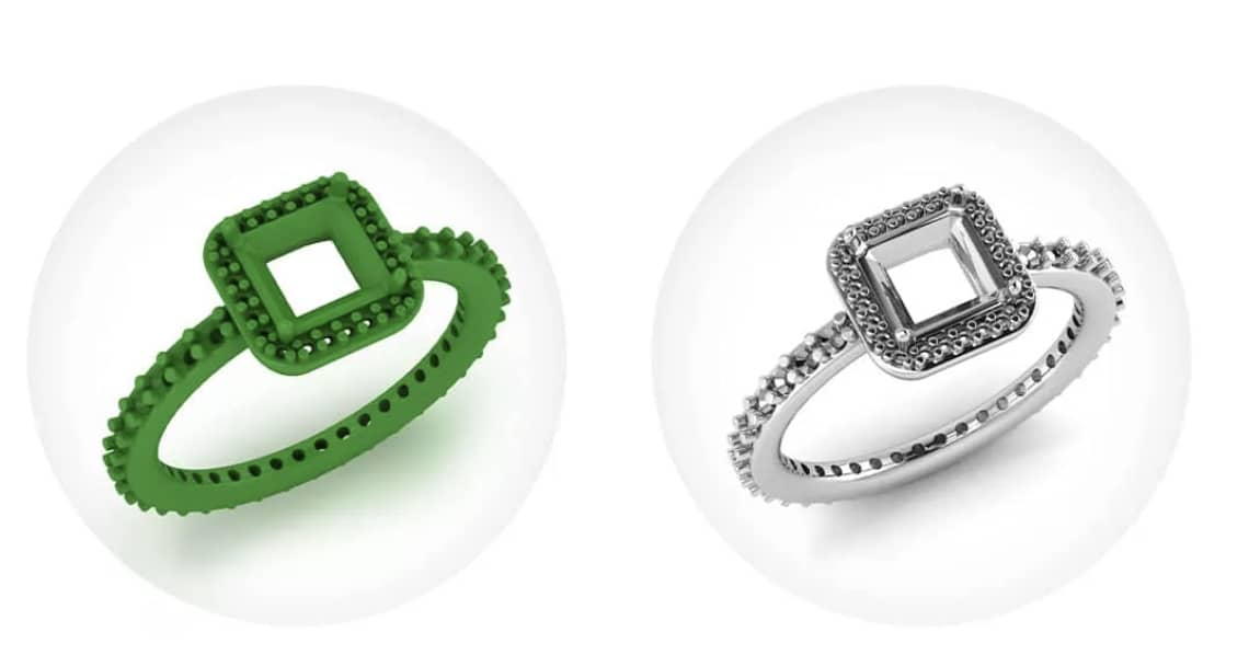 Process showing how a custom ring is designed in 3D